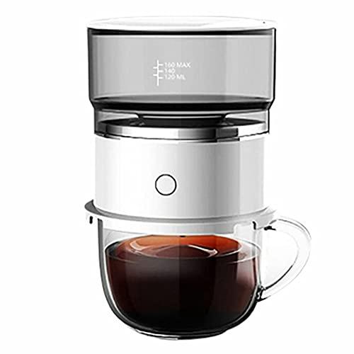 Morninganswer Coffee Hine, cafetera automática con batería para el hogar, cafetera de Mano por Goteo, complementaria, en Polvo, cafetera
