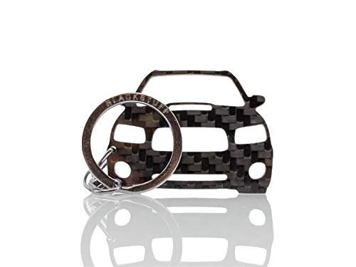 BlackStuff Koolstofvezel Sleutelhanger Ring Houder Compatibel met Forester SG5 2002-2005 BS-921