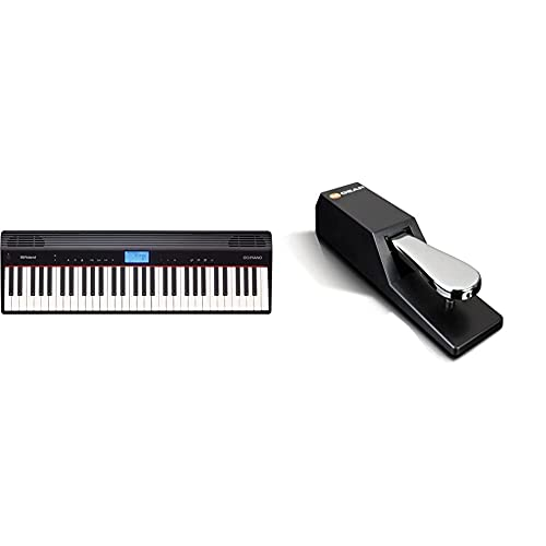 Roland Go:Piano Go-61P Digital Piano, Wireless SmartphOne Connection, Black & M-Audio SP-2 - Universal Sustain Pedal with Piano Style Action, The Ideal Accessory for MIDI Keyboards