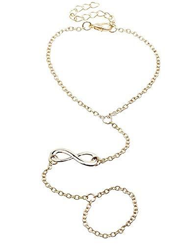 Inception Pro Infinite Baciamano Armband Ring mit Unendlichkeitssymbol in Goldfarbe - Geschenkidee