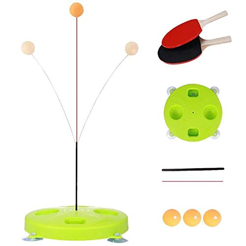 Learn More About Portable Table Tennis Trainer, Upgraded Ping Pong Tennis Set with 2 & 3 Practice Ba...