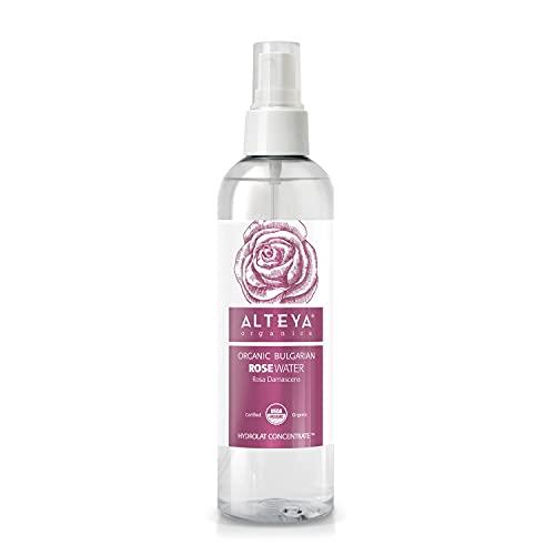 Alteya Organic Agua Floral de Rosa (Rosa Damascena) 250 ml – Spray - 100% Puro Natural Bio Producto con Certificado USDA, Obtenido por Destilaciуn al Vapor de Frescas Flores Cosechas a Mano, Vendido Directamente por el Cultivador y Destilador Alteya Organics desde el Corazуn del Valle de las Rosas en Bulgaria