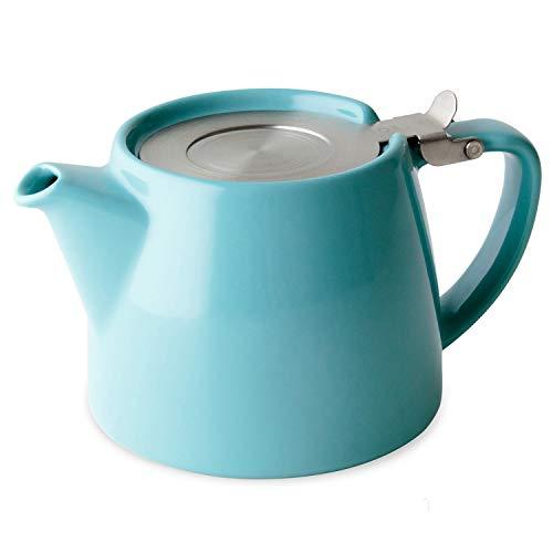 FORLIFE Stump Théière avec couvercle SLS et infuseur Turquoise 530 ml