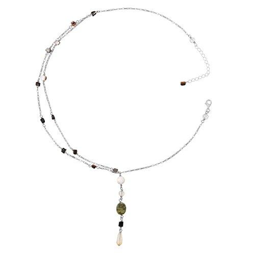 Orphelia Jewelry Damen-Halskette mit Anhnger 925 Sterling Silber natrlichen Elementen 42cm ZK-2585