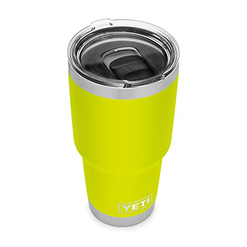 YETI Rambler 30 oz Tumbler, Stainless Steel, Vacuum Insulated with MagSlider Lid, Chartreuse
