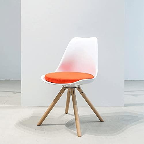 AJMINI Küchenstühle, Vintage-Stil Esszimmerstühle, Seitenstuhl mit natürlichen Holzbeinen, Rückenlehnenstuhl, für Küche, Wohn-Esszimmer, Büro, Weiß (Color : B)