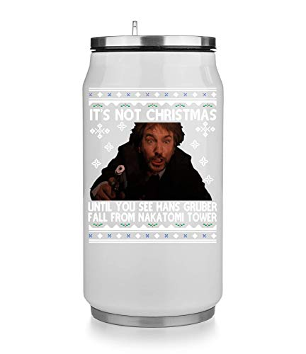 It's Not Christmas Until You See Hans Gruber Fall from Nakatomi Tower Thermobecher Thermal Beverage Can Thermotasse Thermal Tasse Coffee Mug