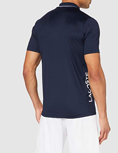 Lacoste Sport Men's DH6843 Polo Shirt, Marine/Marine-Blanc, XL