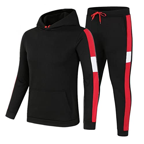 XUNFUN Men's Sweatsuits 2 Piece Hoodie Tracksuit Sets Full Zip Warm Suits Casual Long Sleeve Athletic Outfits