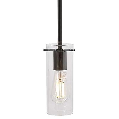 New Simple Modern Glass Pendant Light | Contemporary Sleek Cylinder Design | Hanging Fixture