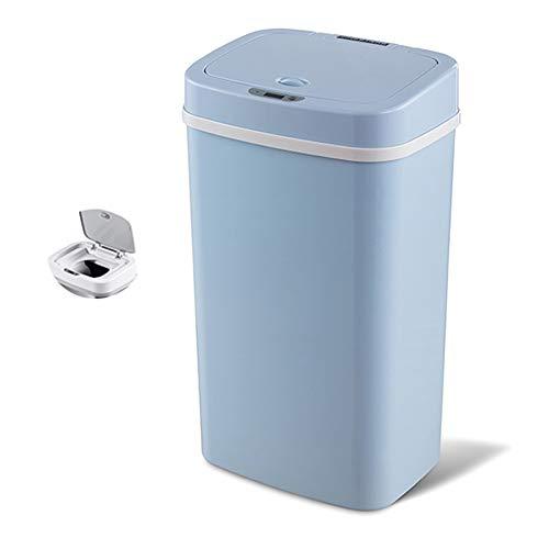 YYYUE 12L, 16L, Deodorant Smart Sensor Mülleimer, doppelschichtige riesige, doppelte riechsichere Windel-Entsorgungslager, stumm, für Babys entworfen,Blau,16L