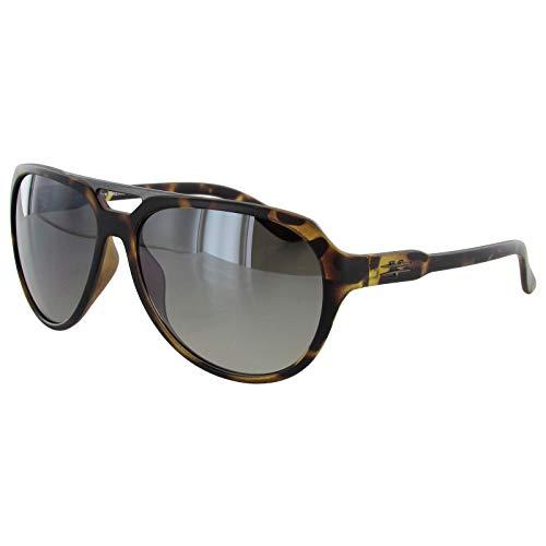 Vuarnet Men's Extreme VE5009 Medium Aviator Sunglasses Matte Havana/Brown Brown Brown Lens