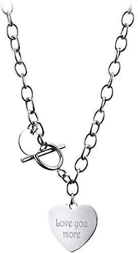 LBBYLFFF Collar con Colgante de corazón, Collar de Gargantilla de Cadena Gruesa de Color Plateado, Collar de Cuello, Collar de joyería gótica