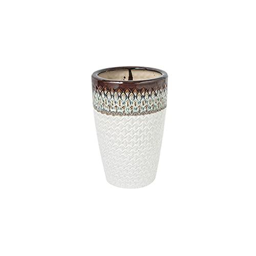 Liudan Maceta de Flores Pote de cerámica de cerámica Blanca Moderno Europeo Inicio Restaurante Oficina Decoración de la Oficina Pote de la Maceta de Piso Grande Macetas Interior y Exterior (Size : A)