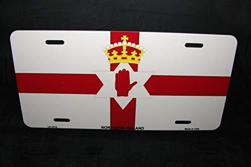 Noord-Ierland Vlag Metal Novelty License Plaat Noordelijke Ierse Vlag Auto Auto Novelty Accessoires License Plaat Art