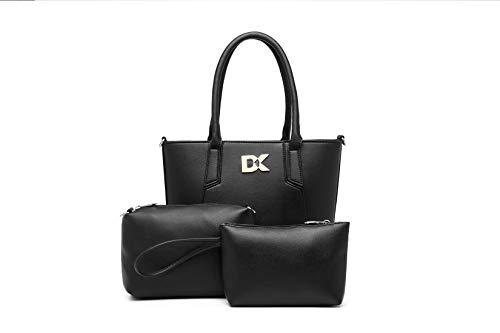 Diana Korr Women's Shoulder Bag with Sling (Black) (Set of 3)
