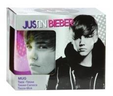 Tazza in porcellana con scritta in lingua tedesca 'Justin Bieber, Viole' Me + You