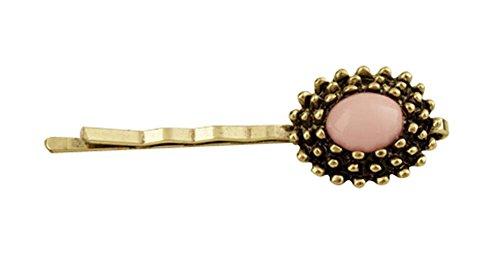Lot de 5 Forme Ronde Filles Pink Beads Accessoires cheveux Hair Pins 4.6 cm