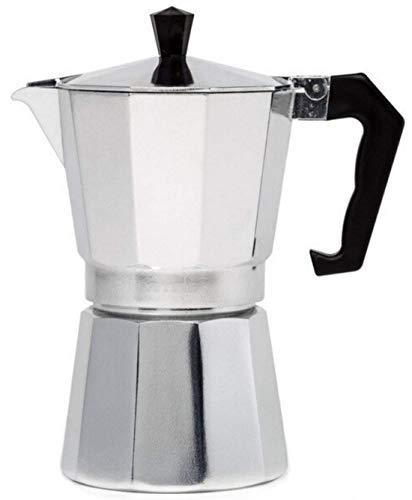 Cafetera italiana Moka Expresso de aluminio, grande, gris, 12 tazas, 600 ml