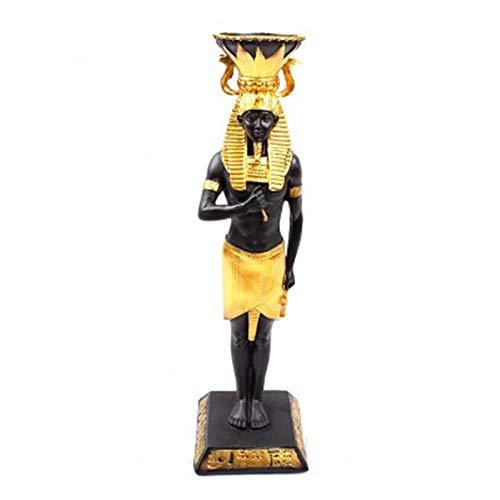Sculpturen Beeldjes Egyptische Farao Hars Kandelaar Retro Decoratie Figuur Kandelaar Baroco Stijl Eettafel Ornamenten