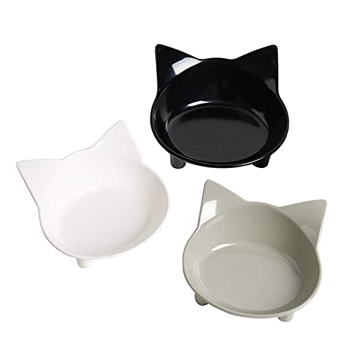 Cat Bowl Cat Food Bowls Non Slip dog Dish Pet Food Bowls Shallow Cat Water Bowl Cat Feeding Wide Bowls to Stress Relief of Whisker Fatigue Pet Bowl of Dogs Cats Rabbits Puppy(Safe Food-grade Material)