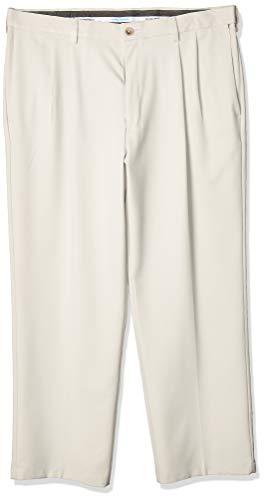 Haggar Men's Cool 18 Pro Classic Fit Pleat Front Expandable Waist Pant, String, 38Wx31L