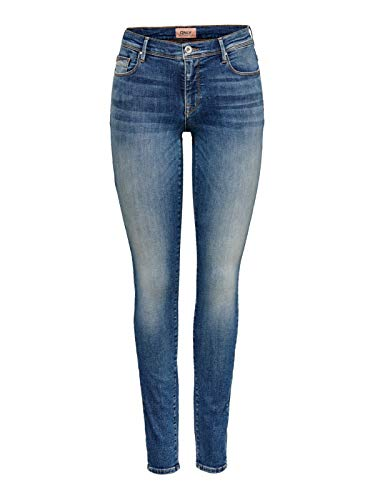 ONLY Damen Onlshape Life Reg Sk Rea7628 Noos Jeans, Medium Blue Denim, 29 EU
