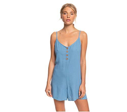 Roxy Damen Coconut Sunshine Romper Jumpsuit, Blue Heaven, Large