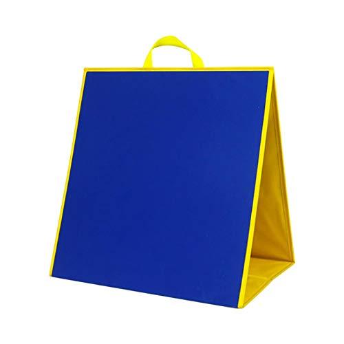 Doppelseitiges stehendes Filz-Lehrbrett,17,13x17,32 Zoll Blaues und schwarzes...