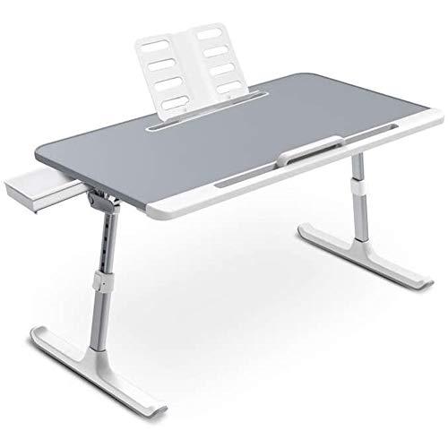 Opvouwbare En Draagbare Laptoptafel, Verstelbaar Lederen Schootbureau Met Sledepoten Voor Het Lezen Van Slaapbanken,C