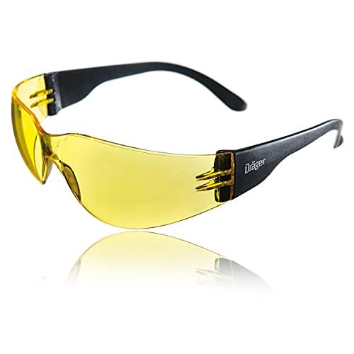 Dräger X-pect 8312 Gafas de Seguridad | Lentes de protección Rayos UV antivaho | Patillas Planas |para Industria, Deporte, Laboratorio | 1 Gafa ⭐