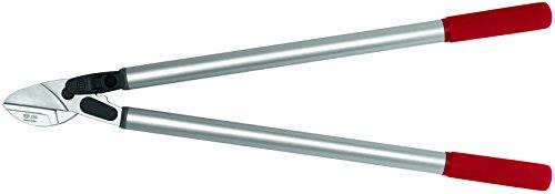 FELCO 11510060 11510060-Podadera yunque Recto 2 Manos 800 mm Corte Hasta 40mm 230-80, Argent/Rouge, Anvil Straight Blade