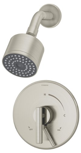 Symmons S-3501-CYL-B-STN Dia Shower System, Satin Nickel Finish