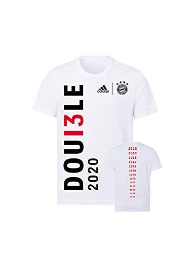 FC Bayern München Kinder T-Shirt Double 2020 weiß, 140