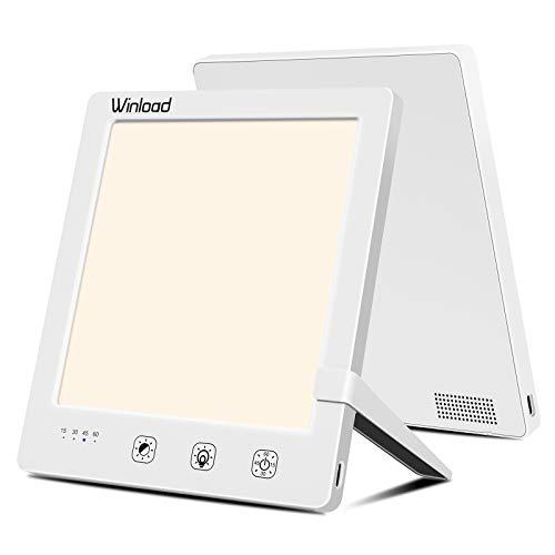 Winload Tageslichtlampe, Lichttherapie Lampen 10,000 Lux, UV Freie LED Tageslichtleuchte mit Timer-Funktion, Einstellbare Farbtemperatur, Lichttherapielampe Gegen Depressionen mit Eine Touch-Steuerung