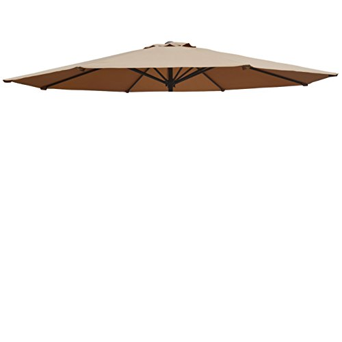 BenefitUSA Umbrella Cover Canopy 13ft 8 Rib Patio Replacement Top Outdoor-tan
