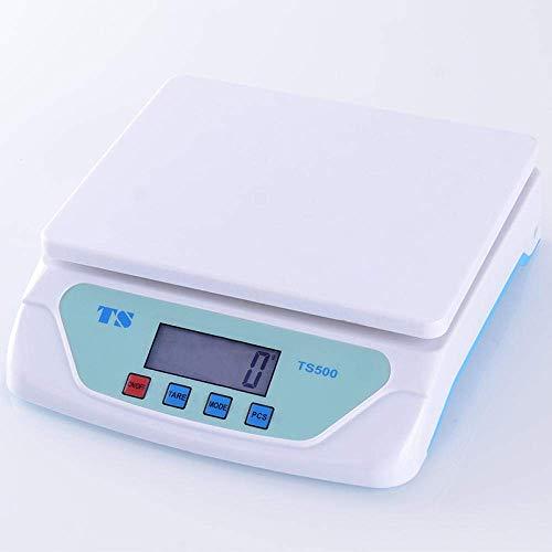 Bakingrediënten, waarbij de elektronische glazen keukenweegschaal voor het koken en voedselschalen met gevoelige toetsen lager 25 kg