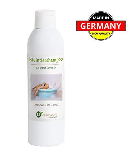 LT-Naturprodukte Kaninchenshampoo | Bio | sanfte Fellpflege ohne Chemie & Seife | gegen Juckreiz | hypoallergen | unterstützt die Wundheilung | mit original marokkanischer Lavaerde | 250ml
