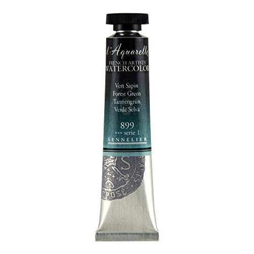 Sennelier L'Aquarelle French Watercolor, 21ml Tube, S1 Forest Green
