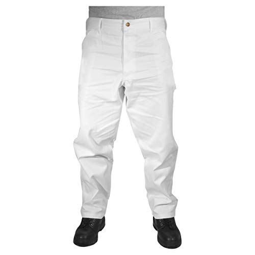 Rugged Blue CSGPTWP1000025167-WHT-40X34 Painters Pants, English, Cotton, 40 x 34 White