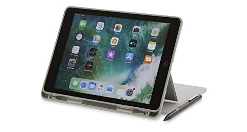 ProtectCase for iPad 10.2' (2019/20), 7/8th Gen, Stand with Magnetic Closure and Front Tab, Sleep & Wake, Pencil/Crayon - Grey