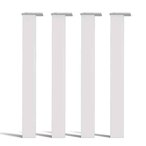 [HLC] Conjunto de 4 Patas para Mesa de Sección De Caja – Estilo Moderno y Minimalista, Ideal para Mesas y Escritorio [71cm,Blanco]