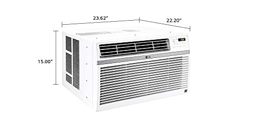 LG 12,000 BTU 115V Window-Mounted Air Conditioner with Remote Control,...