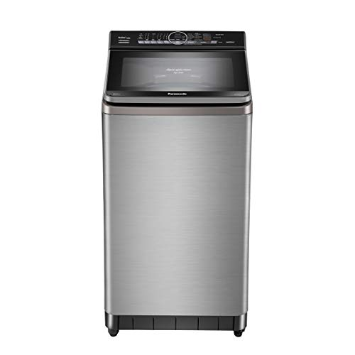 Panasonic Econavi 8 Kg 5 Star Built-In Heater Fully-Automatic Top Loading Washing Machine (NA-F80V9SRB, Stainless Steel, Stain Master+)