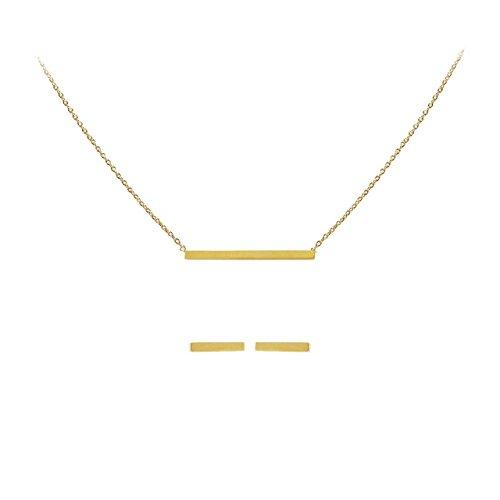 Kitsch conectado collar & pendientes Set