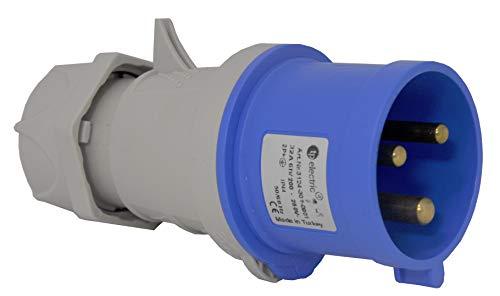 TPelectric - CEE 3x16A IP44 3-Polig Stecker Kupplung Wandsteckdose Einbausteckdose Wandstecker Anbaustecker (Stecker)