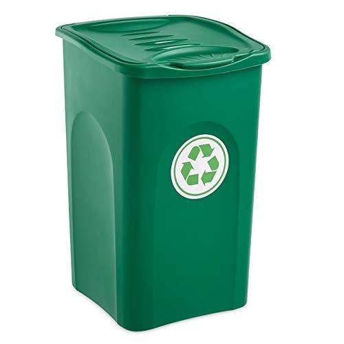 Stefanplast–Cubo de Basura, 50L, Color Verde