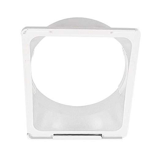 Decdeal Conector de interfaz de tubo flexible P-Ipe para conducto de desagüe de ventana, aire acondicionado portátil de 150 mm (boca plana)