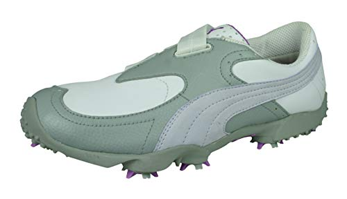 PUMA PG SL Womens Golf Shoes/Sneakers-White-7.5