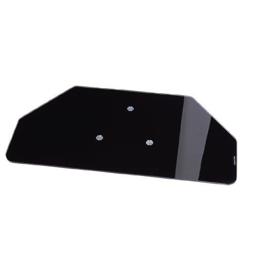 Hama TV-Drehteller (für Fernseher und Monitore bis 60 kg, drehbar um 360°, 80 x 40 cm, Sicherheitsglas) schwarz